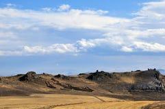 Een modern steengebouw Plaats in Cappadocia stock foto's