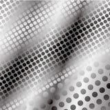 Een moderne high-tech achtergrond van grijze cirkels en een gloed stock illustratie