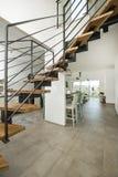 Een Moderne ontwerppenthouse Stock Afbeelding