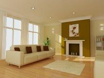 Een moderne woonkamer Stock Afbeeldingen