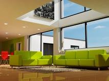 Een moderne woonkamer Royalty-vrije Stock Afbeeldingen