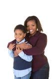 Een moeder en een zoon samen stock afbeeldingen