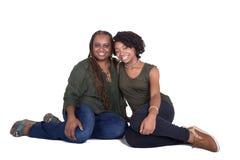Een moeder en haar tienerdochter stock afbeeldingen