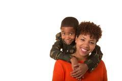 Een moeder en haar zoon Royalty-vrije Stock Afbeeldingen