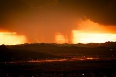 Een Moesson over Arizona met Bliksem royalty-vrije stock afbeelding
