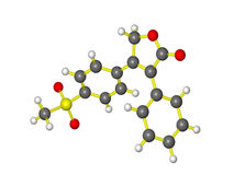 Een molecule van vioxx Stock Afbeelding