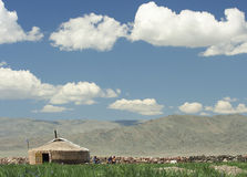Een Mongoolse yurt Royalty-vrije Stock Fotografie