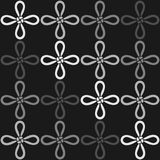 Een monochromatisch naadloos patroon met de Deugdknoop (een Chinese knoop) Stock Foto's