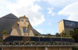 Een monorail Luxor stock fotografie