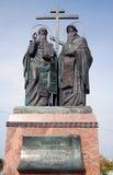 Een monument aan Cyril en Methodius Stock Foto's
