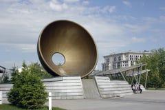 Een monument in de stadscentrum van Astana Kazachstan royalty-vrije stock foto's