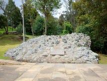 Een monument dedicted aan het Britse Legioen dat Simin-de winstonafhankelijkheid van het Bolívar` s leger voor Colombia in Puente Royalty-vrije Stock Afbeeldingen