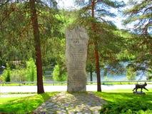 Een monument om hen te eren die binnen aan de oorlog van onafhankelijkheid in 1814 vallen royalty-vrije stock afbeelding
