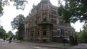 Een monumentaal gebouw in de stad van Zwolle royalty-vrije stock fotografie