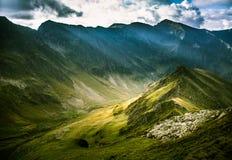 Een mooi berglandschap in Karpatische bergen Stock Afbeeldingen