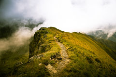 Een mooi berglandschap in Karpatische bergen Stock Foto
