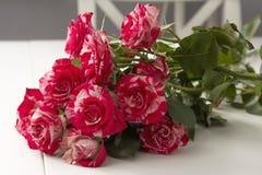 Een mooi boeket van rozen royalty-vrije stock afbeelding