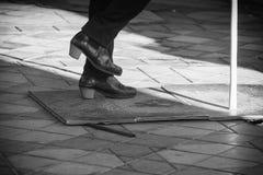 Een mooi detail van de flamencodanser royalty-vrije stock afbeeldingen