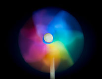 Een mooi gekleurd vuurrad Royalty-vrije Stock Foto