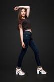 Een mooi 13 jaar oud meisje Stock Foto