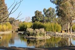 Een mooi landschap door het meer Royalty-vrije Stock Foto's