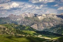 Een mooi landschap van het Dolomiet Italië stock fotografie