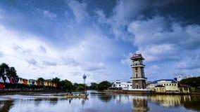 Een mooi landschap van rivier bij het noorden van Maleisië Stock Foto