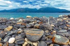 Een mooi landschap van vlot rotseneiland, Koh Hin-Hgam, Thaila Royalty-vrije Stock Afbeeldingen