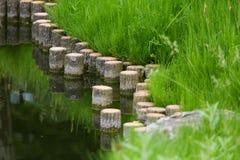 Een mooi landschap van een waterkant in Centraal Londen Stock Fotografie