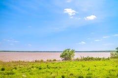 Een mooi meerpark in Nationaal het Wildtoevluchtsoord van Tishomingo, Oklahoma royalty-vrije stock foto