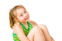 Een mooi meisje dat (2) glimlacht Royalty-vrije Stock Fotografie