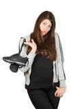Een mooi meisje krijgt op de trainersheup Royalty-vrije Stock Fotografie