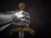 Een mooi oud zwaard van de Orde van de Ridders Templar royalty-vrije stock afbeeldingen