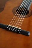 Een mooi schot van een gitaar Stock Foto