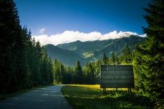 Een mooi Tatry-berglandschap Stock Fotografie