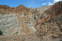 Een mooie berghulp vormde zich tijdens verwering dichtbij Chusang stock foto's