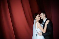 Een mooie bruid en een bruidegom Stock Afbeeldingen