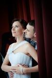 Een mooie bruid en een bruidegom Royalty-vrije Stock Afbeelding