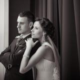 Een mooie bruid en een bruidegom Royalty-vrije Stock Fotografie
