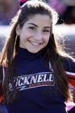 Een mooie Bucknell cheerleader stock afbeelding