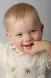 Een mooie gelukkige baby stock afbeelding