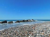 Een mooie glimp van Siciliaanse overzees Stock Afbeelding