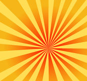 Een mooie irange radiale achtergrond stock illustratie