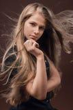 Een mooie jonge vrouw Stock Fotografie
