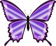 Een mooie kleurrijke purpere vlinder Royalty-vrije Stock Foto