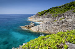 Een mooie kust in Phuket, Thailand Royalty-vrije Stock Afbeelding
