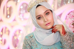 Een mooie malay vrouw stock afbeelding