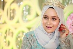 Een mooie malay vrouw Royalty-vrije Stock Afbeelding