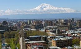 Een mooie mening van Berg Ararat stock afbeeldingen