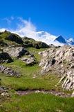 Een mooie mening van de Franse alpen Stock Foto's